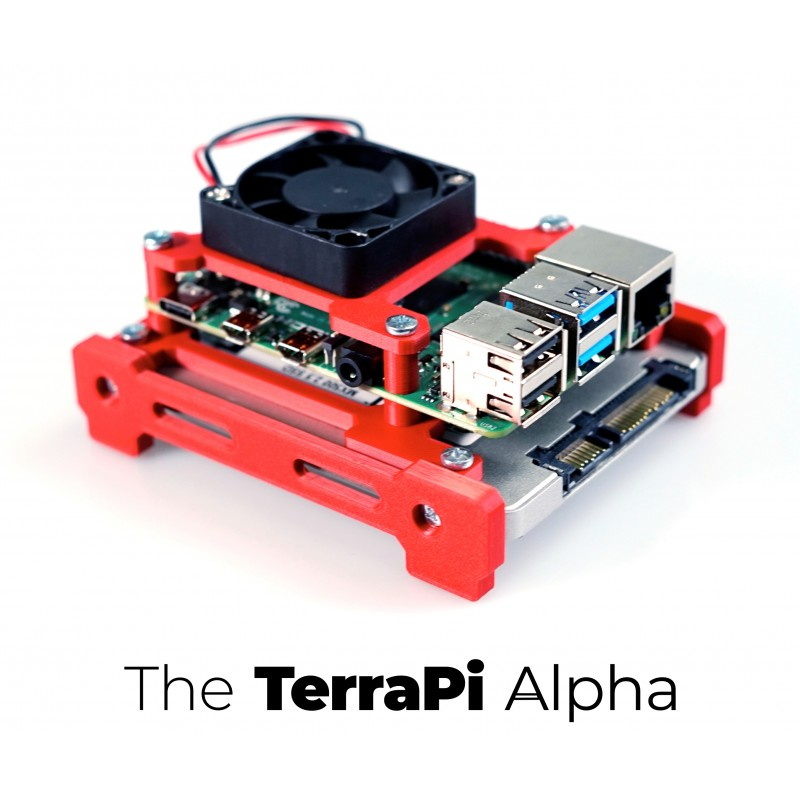 The TerraPi Alpha - A Raspberry Pi case with SSD Support