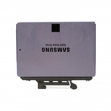 """DIN Rail 2.5"""" SSD Clip for SSD and HDD mounted on a DIN Rail."""