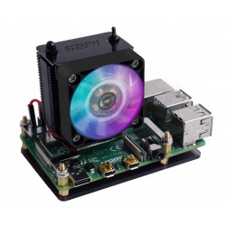Black GeeekPi Ice Tower CPU Fan Ice Tower Fan for Raspberry Pi 4 Model B & Raspberry P
