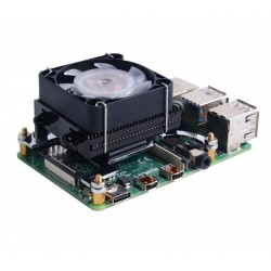 Black GeeekPi Ice Tower LOW PROFILE CPU Fan Ice Tower Fan for Raspberry Pi 4 Model B & Raspberry P